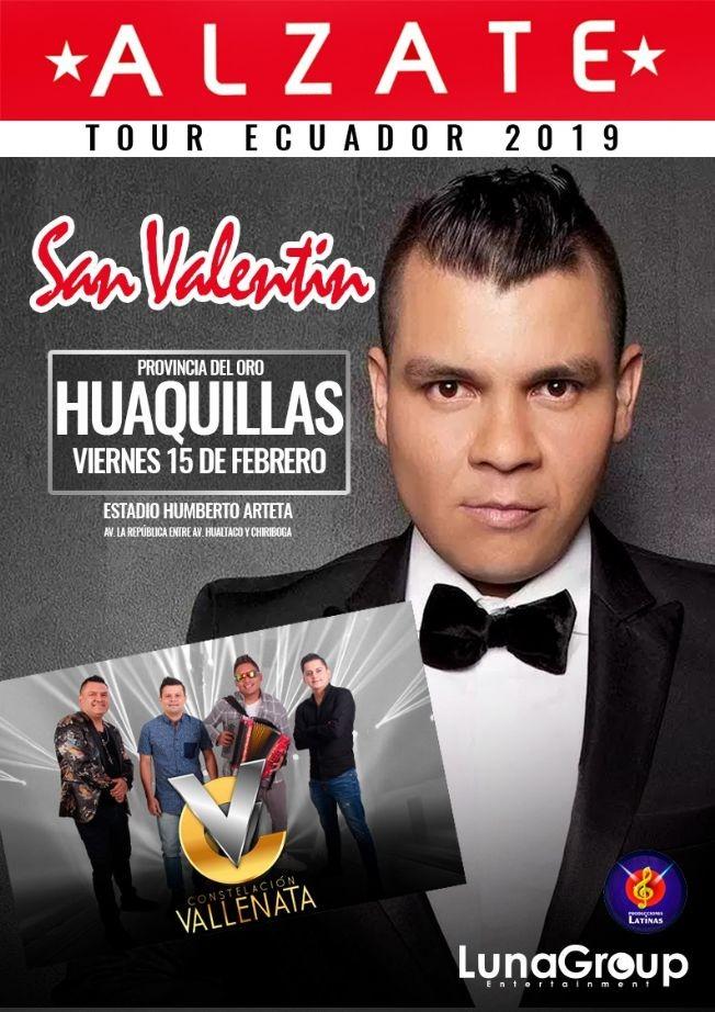 Flyer for Alzate Tour Ecuador 2019