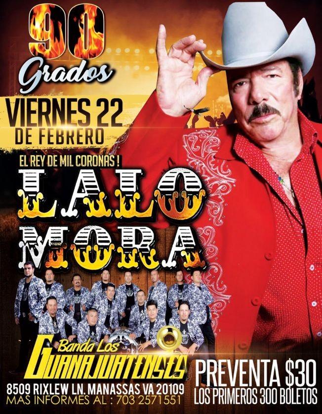 Flyer for Lalo Mora y Banda los Guanajuatenses