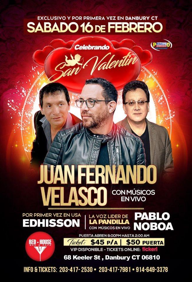Flyer for Juan Fernando Velasco