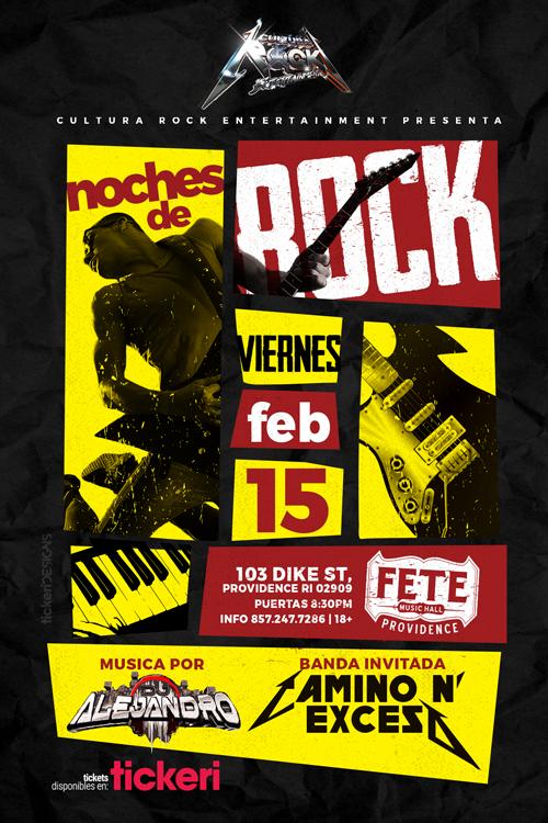 Flyer for NOCHES DE ROCK