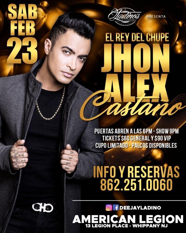 Flyer for Jhon Alex Castaño CANCELADO
