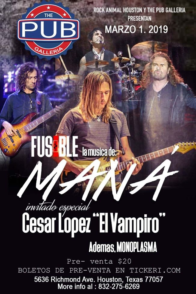 Flyer for Tributo a Mana