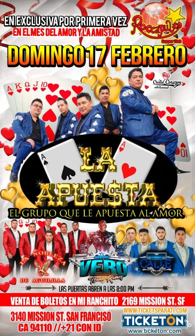 Flyer for La Apuesta en San Francisco,CA