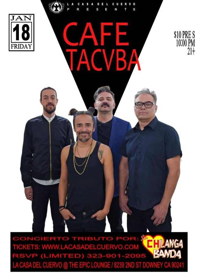 Flyer for CAFE TACVBA CONCIERTO TRIBUTO POR LA CHILANGA BANDA