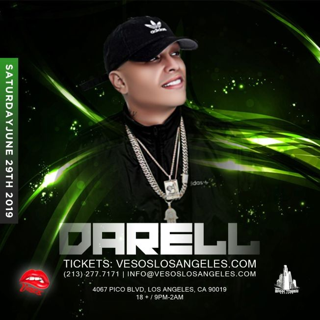 Flyer for Darell Saturday Age 18+ Tickets Will Be Avail. At The Door