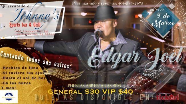 Flyer for Edgar Joel en concierto atlanta