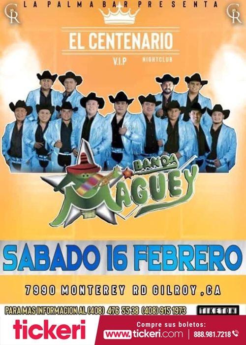 Flyer for Banda Maguey en Concierto en Gilroy, CA
