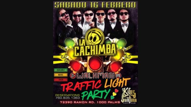 Flyer for TRAFFIC LIGHT PARTY at KILOS CANTINA