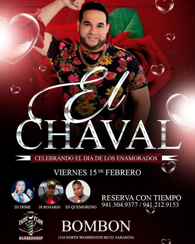 Flyer for EL CHAVAL DE LA BACHATA