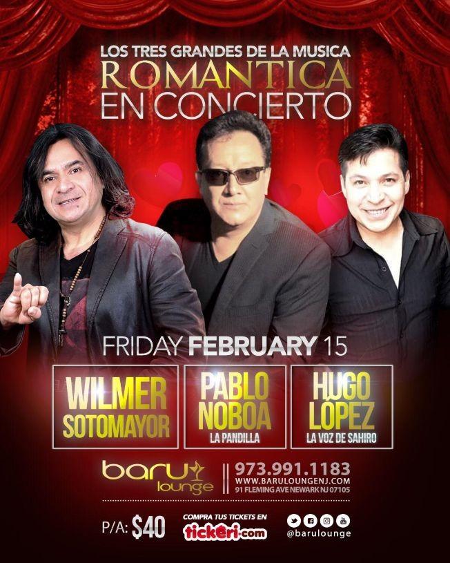 Flyer for Wilmer Sotomayor, Pablo Noboa, Hugo Lopez