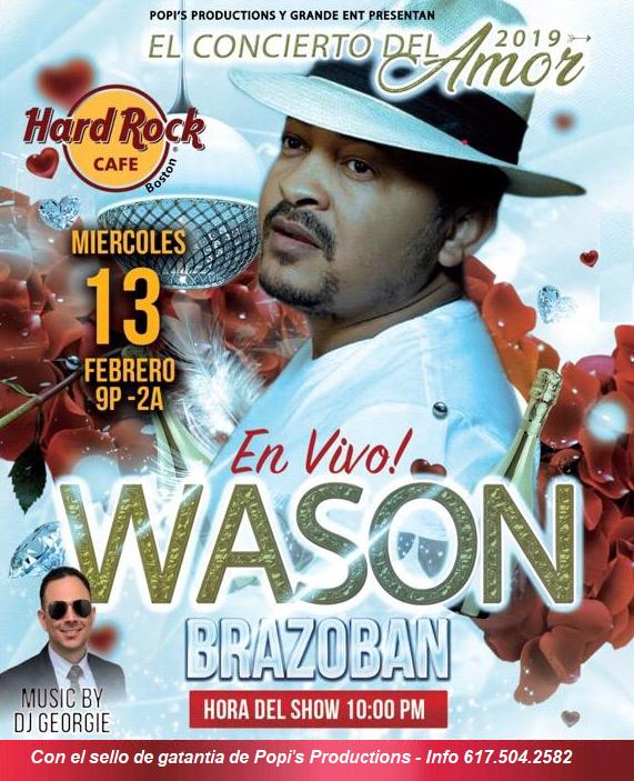 Flyer for Wason Brazoban El Concierto del Amor 2019