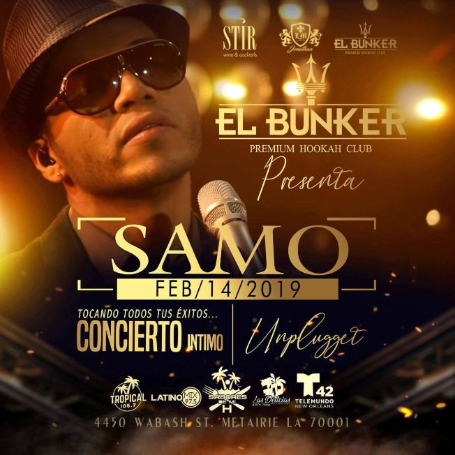 Flyer for SAMO DEL GRUPO CAMILA EN  LOUISIANA