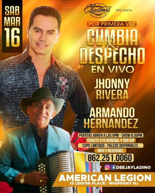 Flyer for Jhonny Rivera & Armando Hernandez