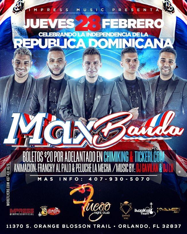 Flyer for Maxbanda @ Orlando,FL