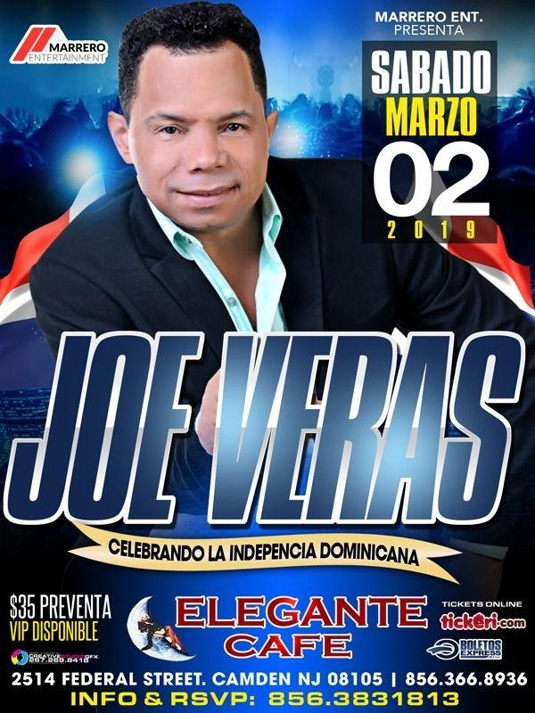 Flyer for Joe Veras en Camden,NJ