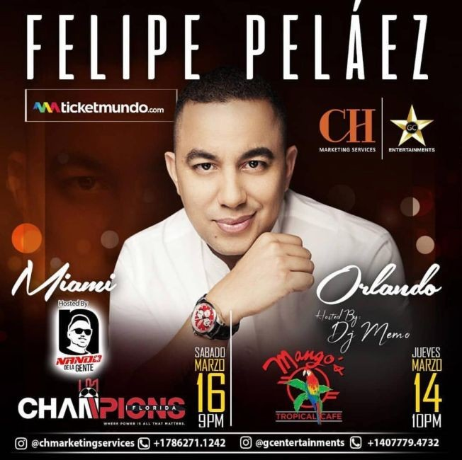 Flyer for Felipe Pelaez en Orlando,FL