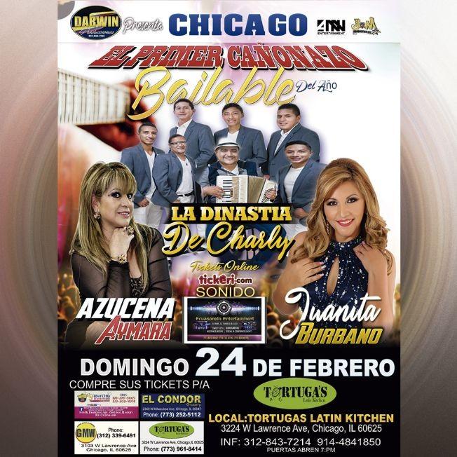Flyer for CHICAGO LLEGA EL CAÑONAZO DEL AÑO 2019