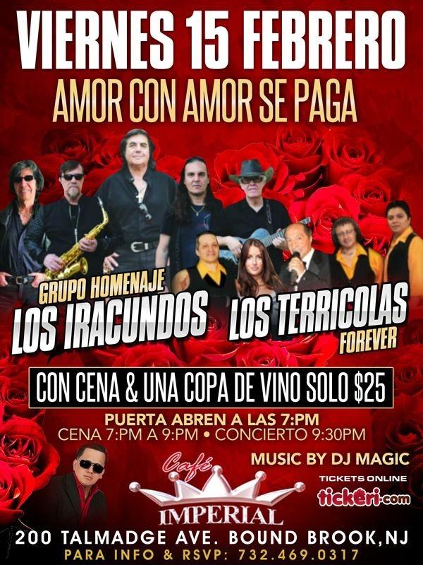 Flyer for AMOR CON AMOR SE PAGA/LOS IRACUNDOS Y LOS TERRICOLAS
