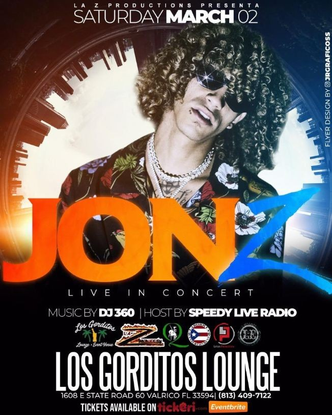 Flyer for Jon Z Live