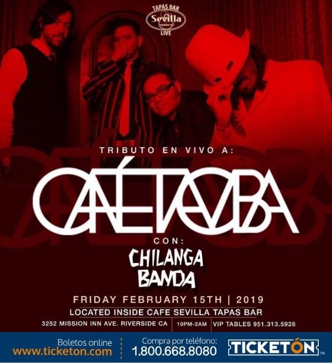Flyer for Cafe Tacvba Tribute