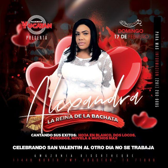 """Flyer for Alexandra """" La Reina De La Bachata """""""