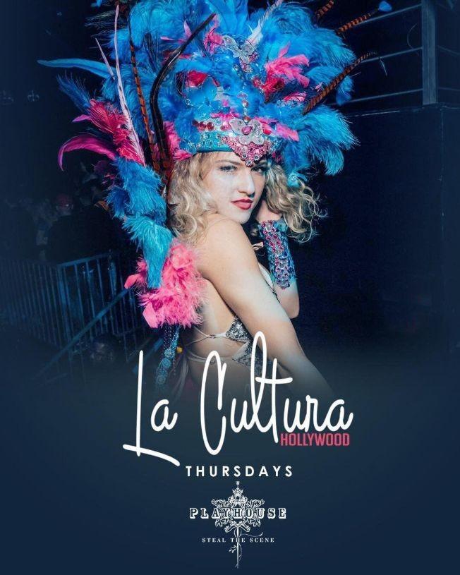 Flyer for La Cultura Thursdays #1 Latin CLub 21+ LA
