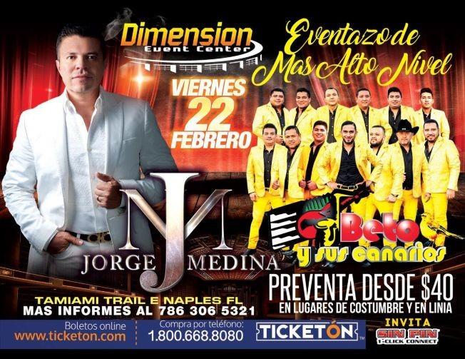Flyer for Jorge Medina - Beto y Sus Canarios