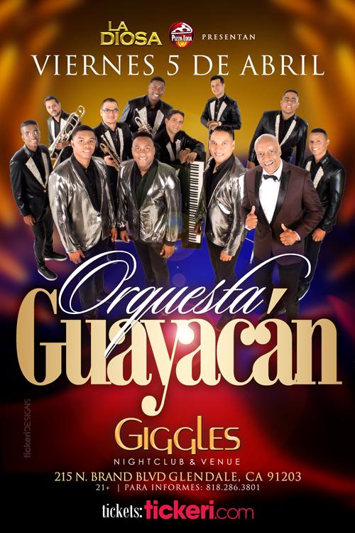 Flyer for ORQUESTA GUAYACAN EN LOS ANGELES