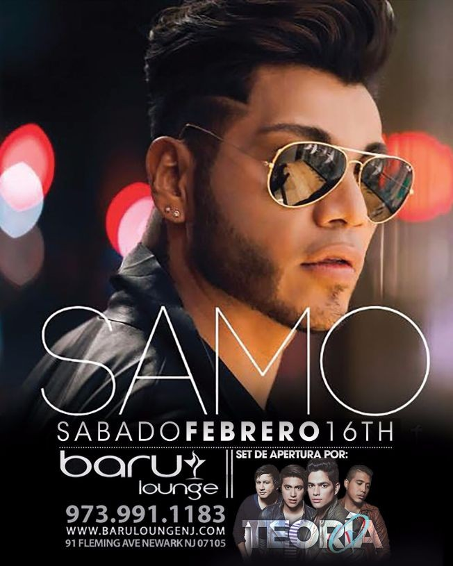 Flyer for SAMO voz de Camila I en New Jersey