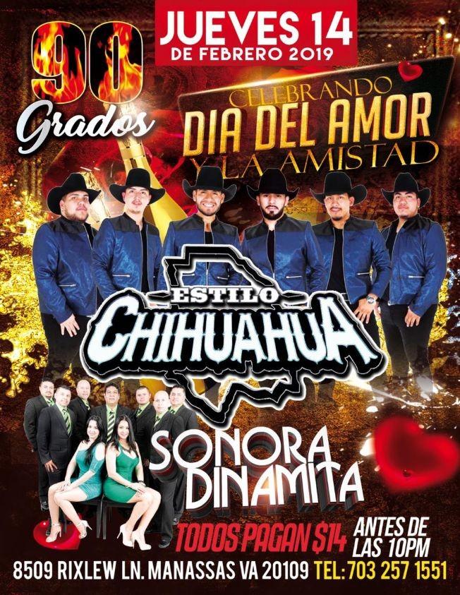 Flyer for Estilo Chihuahua y La Sonora en Manassas VA