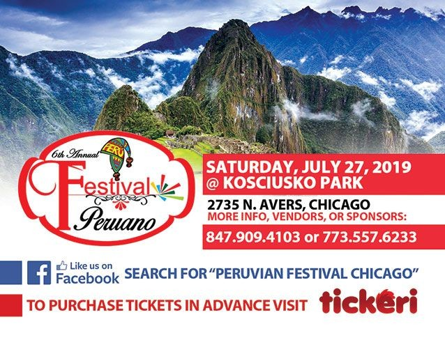 Flyer for Peruvian Festival in Chicago,IL
