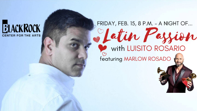Flyer for Latin Passion with Luisito Rosario Ft. Marlow Rosado en Germantown,MD
