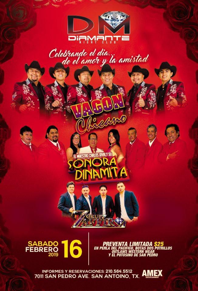 Flyer for Vagon Chicano,La Sonora, Grupo Zaffiro!