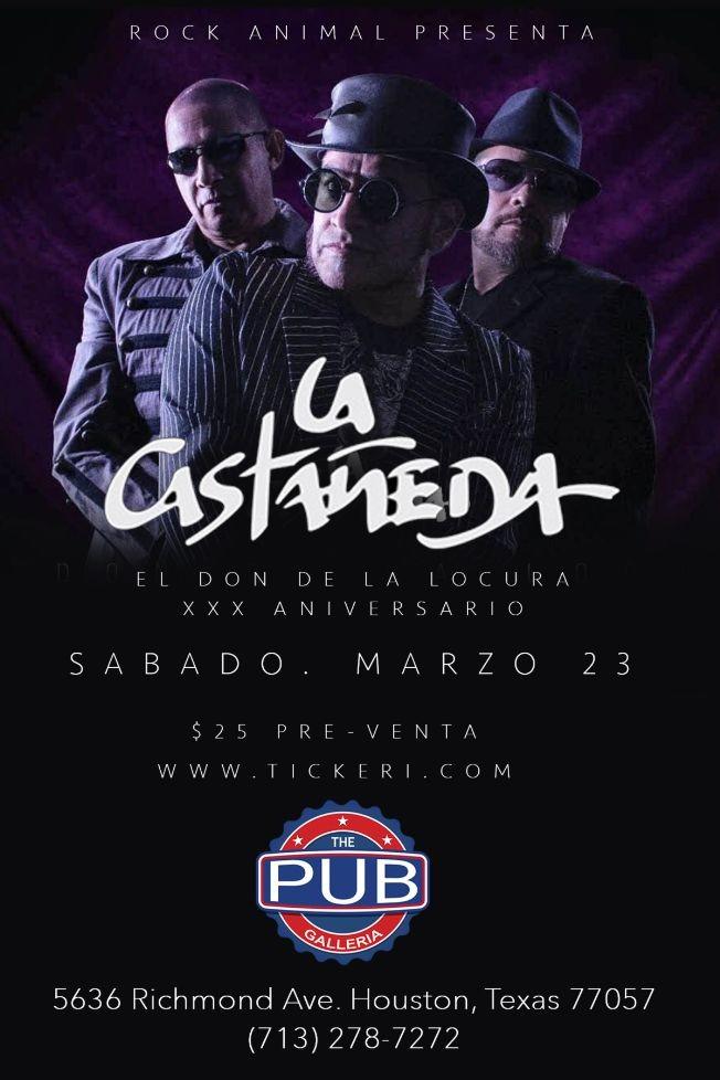 Flyer for La Castañeda XXX Aniversario Tour