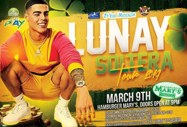 Flyer for Lunay Live In Concert