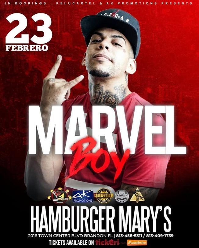 Flyer for Marvel Boy Live In Concert