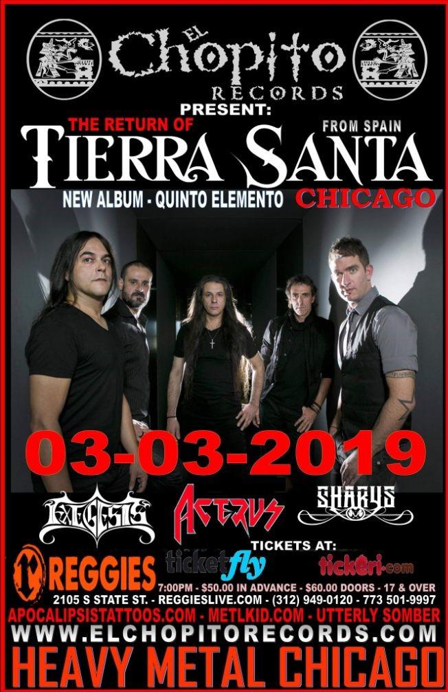 Flyer for Tierra Santa En Chicago,IL