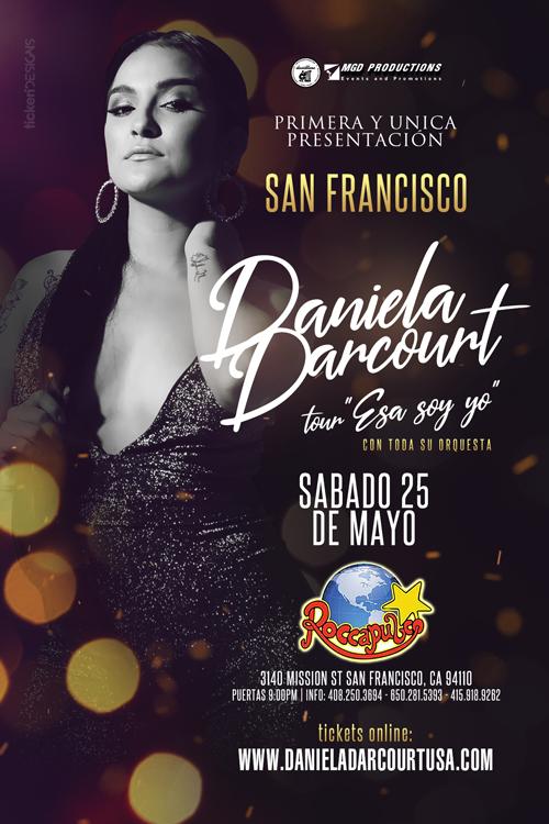 Flyer for Daniela Darcourt en San Francisco