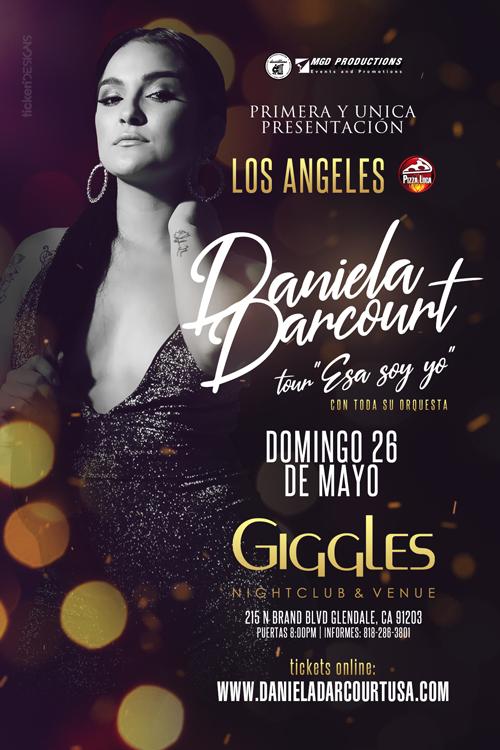 Flyer for DANIELA DARCOURT EN LOS ANGELES