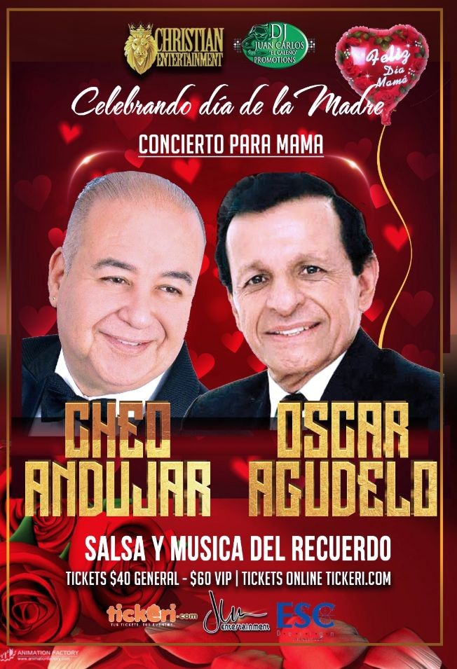 Flyer for CHEO ANDUJAR Y OSCAR AGUDELO EN HOUSTON