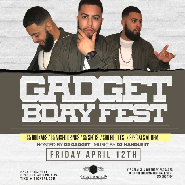 Flyer for GADGET BDAY FEST