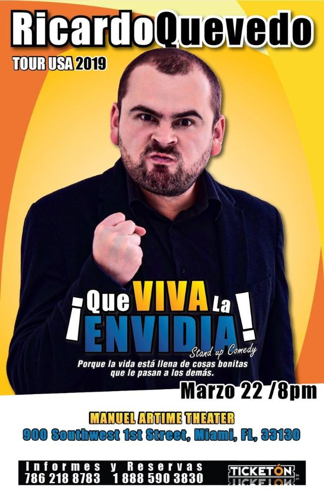 "Flyer for RicardoQuevedo""Que Viva la Envidia"""