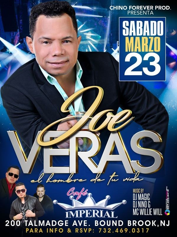 Flyer for Joe Veras-El Hombre de tu Vida