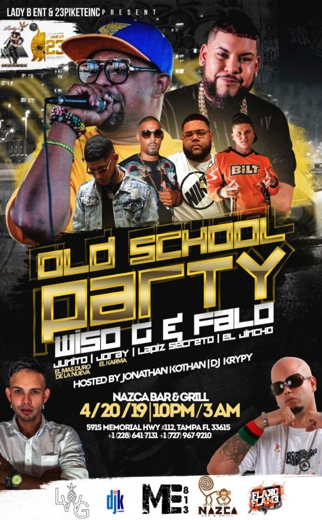 "Flyer for OLD SCHOOL PARTY WITH ""FALO"" & ""WISO G"""