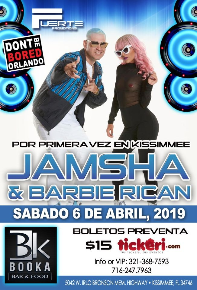 Flyer for Jamsha y barbie rican
