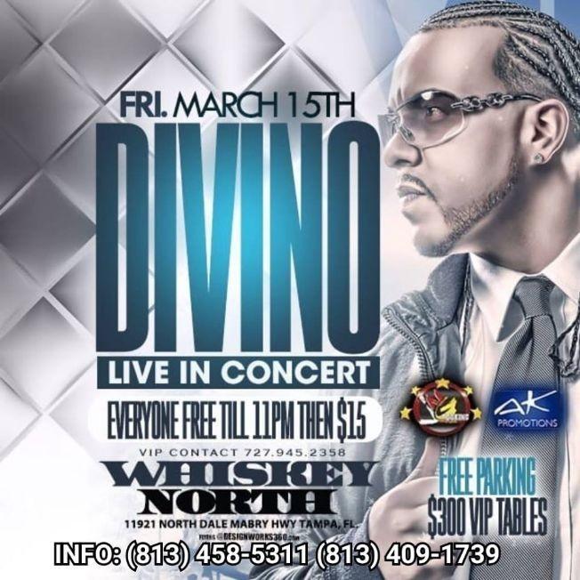 Flyer for Divino Live In Concert