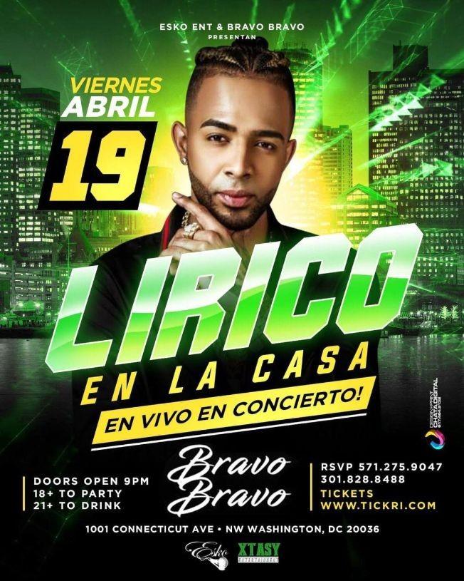 Flyer for Lirico En La CASA