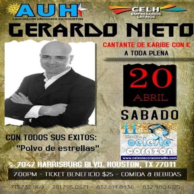 Flyer for Gerardo Nieto en Concierto