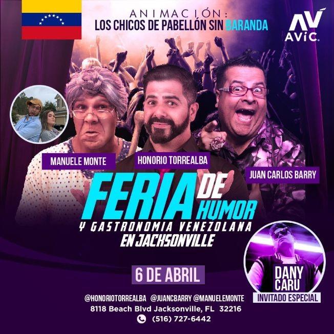 Flyer for Feria de Humor y Gastronomia