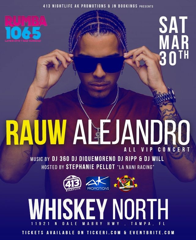 Flyer for Rauw Alejandro Live In Concert